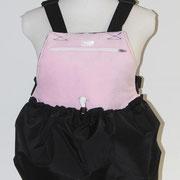 7 Wintertasche außen Nylon sw/ innen Fleece rosa