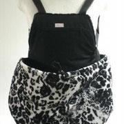 6 Wintertasche außen Fellimitat sw/weiß und innen Baumwolle sw/Stoff ausverkauft