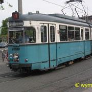 Dieser GT6 Nr. 218 der HSB in Heidelberg wurde später Nr. 43 bei der Strassenbahn Schöneiche Rüdersdorf (SRS). Diese Aufnahme konnte ich noch am 2.05.2003 schiessen.