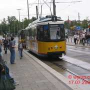 Die von Stuttgart übernommen. Kurzgelenktriebwagen GT4 (Typ Esslingen) sind heute nicht mehr im Betrieb, Nr. 12,  am Ulmer Hauptbahnhof.