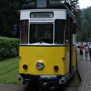 Frontansicht des Gotha-Triebwagens Nr. 1.