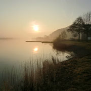 Sonnenaufgang am Werratalsee