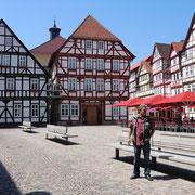 Marktplatz Eschwege, viel Fachwerk