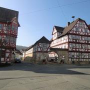 Viel Fachwerk in Wanfried - hier das Rathaus