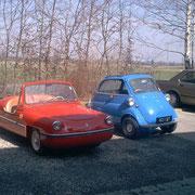 Victoria Spatz und BMW Isetta
