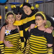 Ein Bienenschwarm war auch am Start!