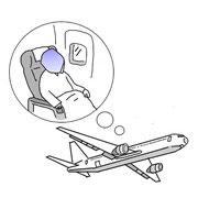 そして飛行機でも