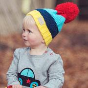 Bobble Hat Bright Stripe