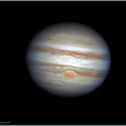 Jupiter vom 14.03.2014 mit großem roten Fleck