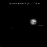 Jupiter mit Monden 25.01.14