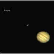 Jupiter mit Io, Ganymed und Europa (13.02.2015, 19:03 Uhr)