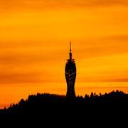 Pyramidenkogelturm im Sonnenuntergang - November 2013