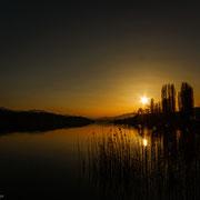 Sonnenuntergang Pörtschacher Schlangeninsel