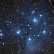 Plejaden M45, 1 Foto a 12 min, PS