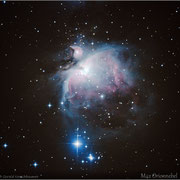 M42 - Orionnebel, 1x10s, 1x30s, 1x60s, 1x90s, 5x120s, Darks, ISO 800