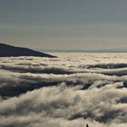 Klagenfurter und Villacher Becken unter Nebel