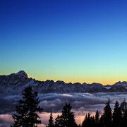 Karawanken über dem Nebel
