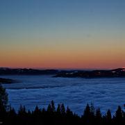 Nebelmeer über Villach mit Blick zur Gerlitze