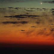 Sonnenuntergang in Grado mit Venus