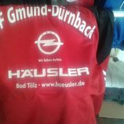 Adidas Trainingsanzug SF Gmund-Dürnbach beflockt Flockdruck