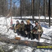 Cубботник по заготовке делового леса.