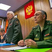 В президиуме заседания Басик И.И., Федоров А.Ю., генерал армии Гареев М.А., генерал-майор Цыганков А.М. (слева направо)