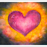 Herzbild Cosmic Heart
