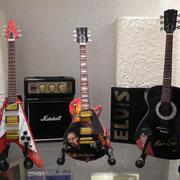 diverse Modellgitarren, echter Marshall, 2Watt