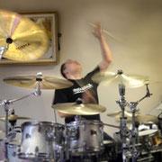 Zacky Tsoukas 2013 bei der Drumclinic im Musikhaus in Burgdorf