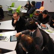タブレットを使っての授業支援システムのワークショップ