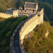 Die Chinesische Mauer bei Juyongguan (居庸关). Sonnenuntergang.