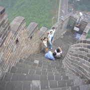 Die Chinesische Mauer bei Badaling (八达岭).Ja, es ist steil.