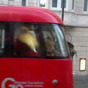 Le père Noël qui prend le bus... :)