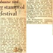 Krantenknipsel van talentenjacht op 20 april 1963.