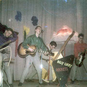 THE BILLY LUCKY ROCKETS vlnr: Adrie Voermans (RIP) - Jan Koolen - Willy (Billy) Luijks - Piet Heyboer - Jac Geers