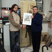"""Il Presidente premia il """"Giocatore Scelto 2012"""": Silvio Scotti (a sinistra)"""