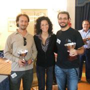 I secondi classificati: Silvio Scotti (Gaeta) e Andrea Magnani (Brescia), premiati dalla signora Rita Schiappelli, madrina della manifestazione