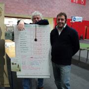 La squadra 3^ classificata: i Generali di Brigata Luigi Pecchia e Mauro Folgori