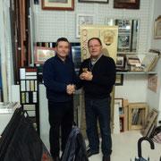 """Il Presidente premia il """"Giocatore dell'anno 2012"""": Loris Mazzoletti (a destra)"""