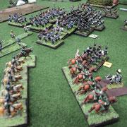 Campagna del Belgio 1815. Veduta dell'attacco Francese