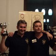 La squadra 2^ classificata: Franco Iacca e Stefano plescia