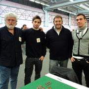 Da sinistra: Luigi Pecchia, Edoardo Plescia, Mauro Folgori e Gabriele Tabacchini
