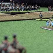 Campagna del Belgio 1815. Veduta dalla parte Prussiana della massiccia avanzata dell'esercito Francese