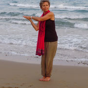 ... morgendliches Üben am Strand