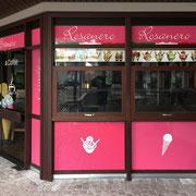 >> Folienbeschriftung Eiscafé  >> Foil labeling Ice bar