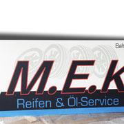 Firmenschild / Werbetafel 3000 x 1000 mm Aluminium Verbundplatte, MEK Auggen  >> Company Sign 3000 x 1000 mm Aluminium Composite, MEK Auggen