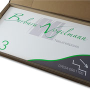 Firmenschild / Werbetafel 1400 x 800 mm Aluminium Verbundplatte, Vogelmann Laufen  >> Company Sign 1400 x 800 mm Aluminium Composite