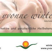 Design Werbekarte www.yvonne-winter-natur.de >> Design Promotional Card www.yvonne-winter-natur.de, 210 x 105 mm