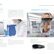 Flyer 12-seitig, Labworldsoft,  RealworldOne GmbH >> 12-page brochure