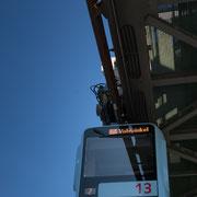 die Linie 13 der Schwebebahn in Wuppertal